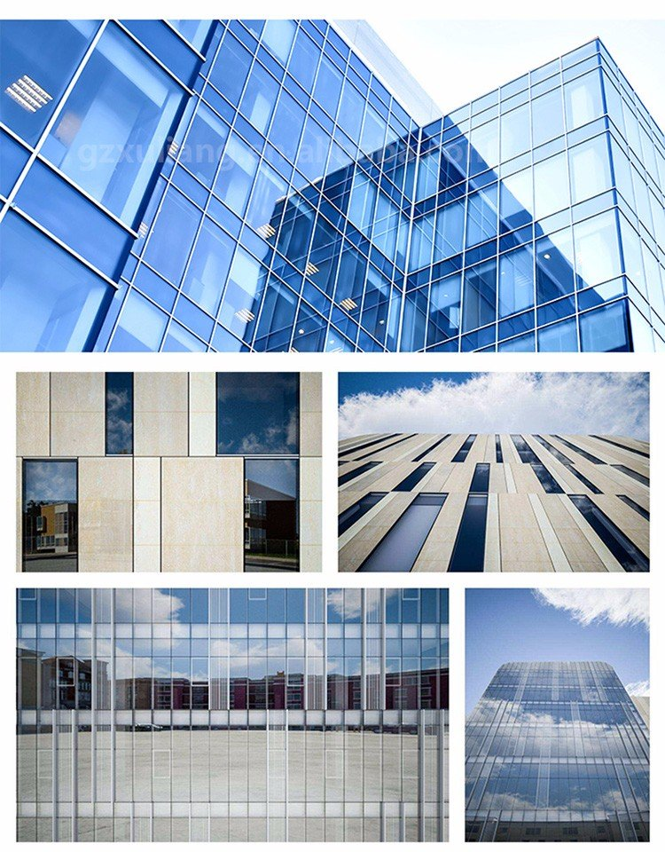 Exterior Curtain Wall : Professional aluminium unit system frame glass curtain