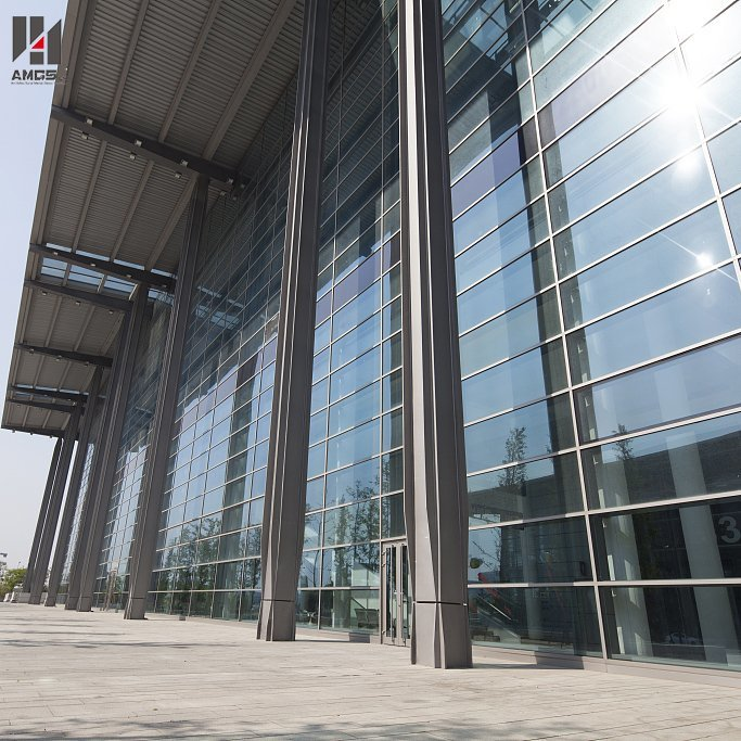 Professional Frame Glass Curtain Wall Glass Wall Panels
