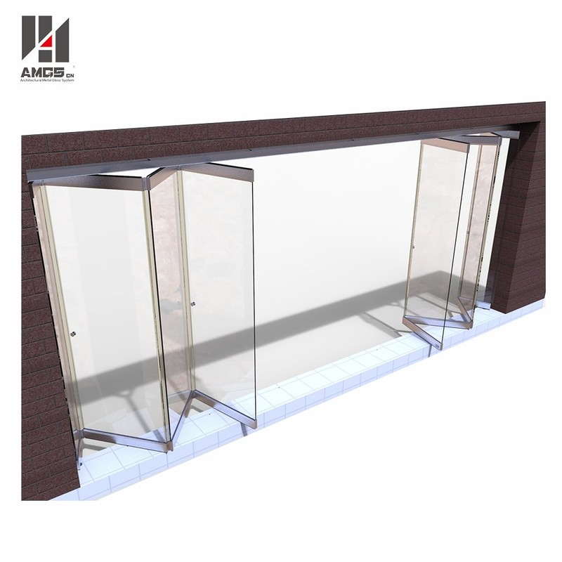 Frameless Folding Glass Doors For Commercial Shop Or Office