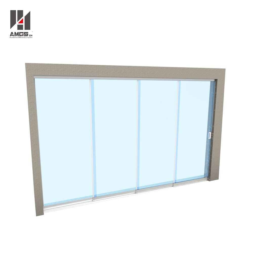 All Glass Multitrack Frameless Glass Sliding Doors Frameless