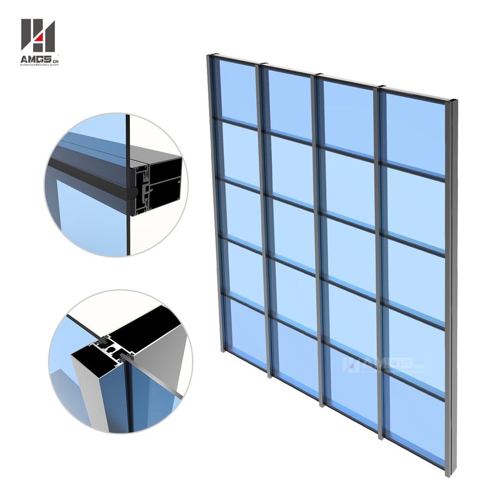 Half hidden frame Glass Curtain Wall